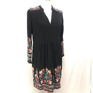 Floreat Anthropologie black dress Large